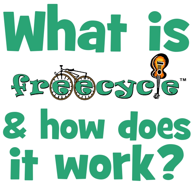 What is freecycle and how does it work?