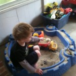 Indoor sand/rice play