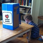 DIY Cardboard Mailbox Play: The Joy Mail Box Completed
