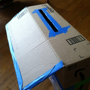 DIY Cardboard Mailbox Play: Home delivery mailbox