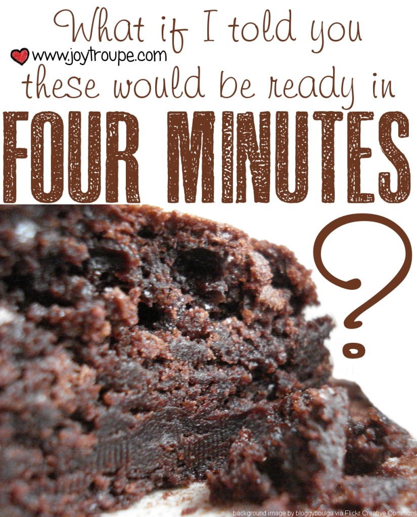 Four Minute Perfect Brownie Recipe