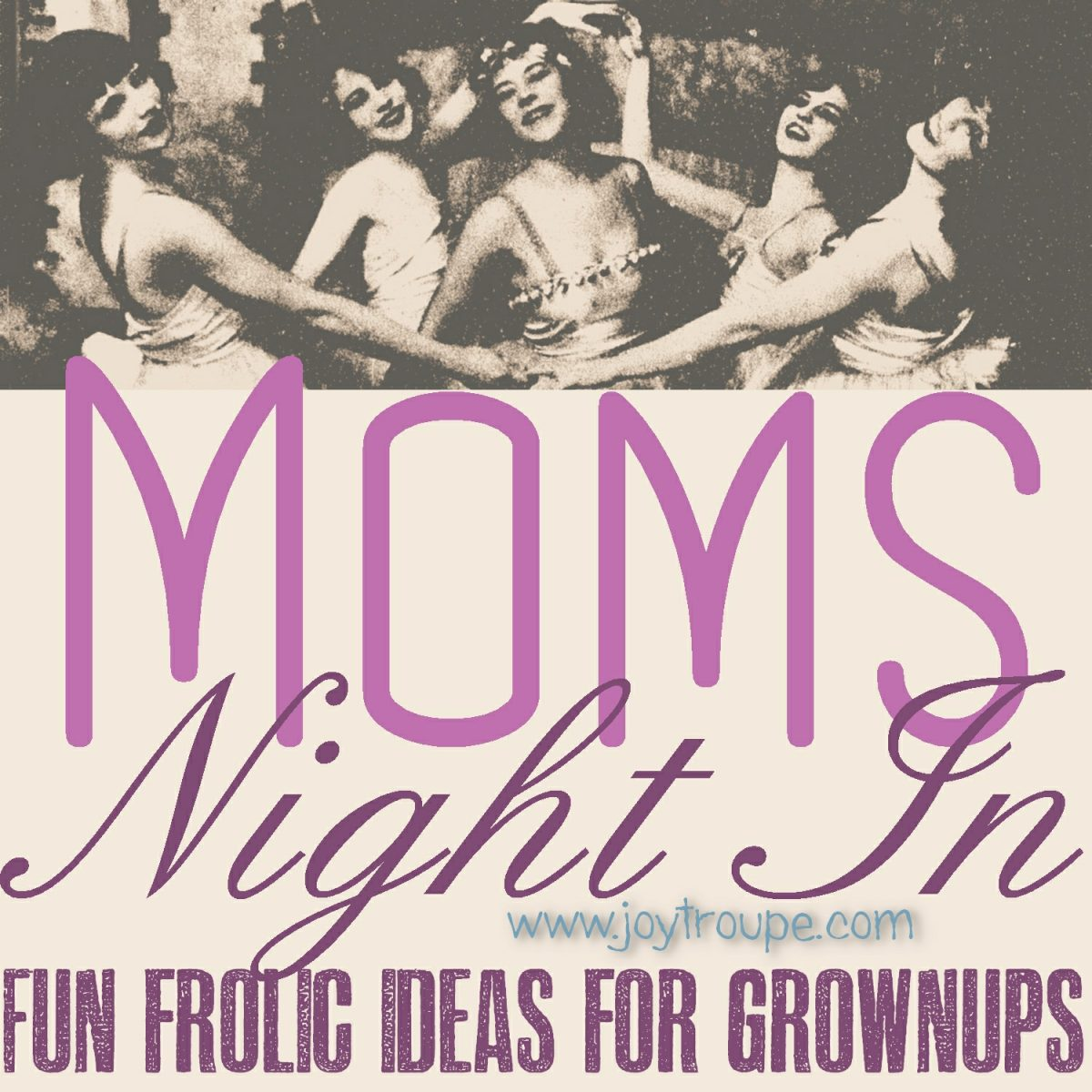 Moms Night In Button