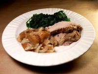 crock pot apple chutney pork roast recipe Joy Makin Mamas
