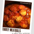 Crockpot Turkey Meatballs in White Wine Marinara