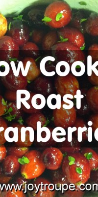 Crockpot Cranberries (and tips for pleasing a veg*an at Thanksgiving!)