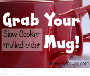 Hot mulled cider from your crock pot