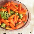 World's easiest side dish steamed broccoli and carrots with garlic and ginger