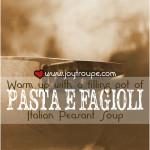 Pasta E Fagioli Recipe with crock pot variation