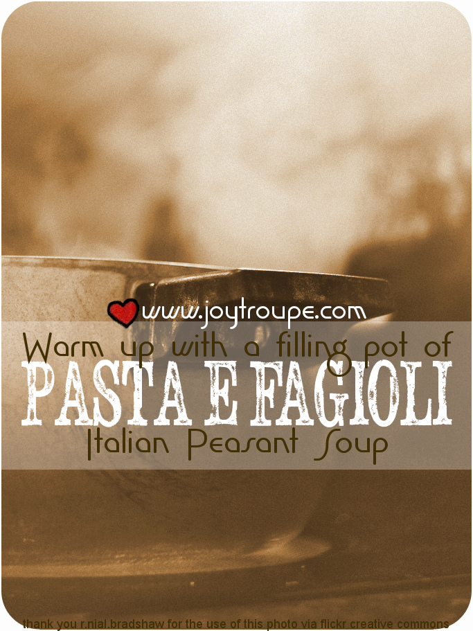 Pasta E Fagioli Recipe with crock pot variation