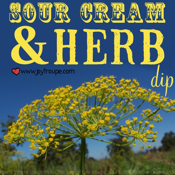 Sour Cream and Herb Dip Recipe