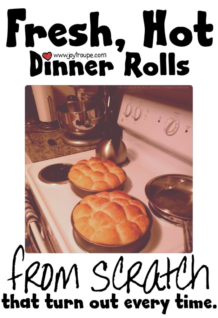 Basic Dinner Rolls from scratch recipe
