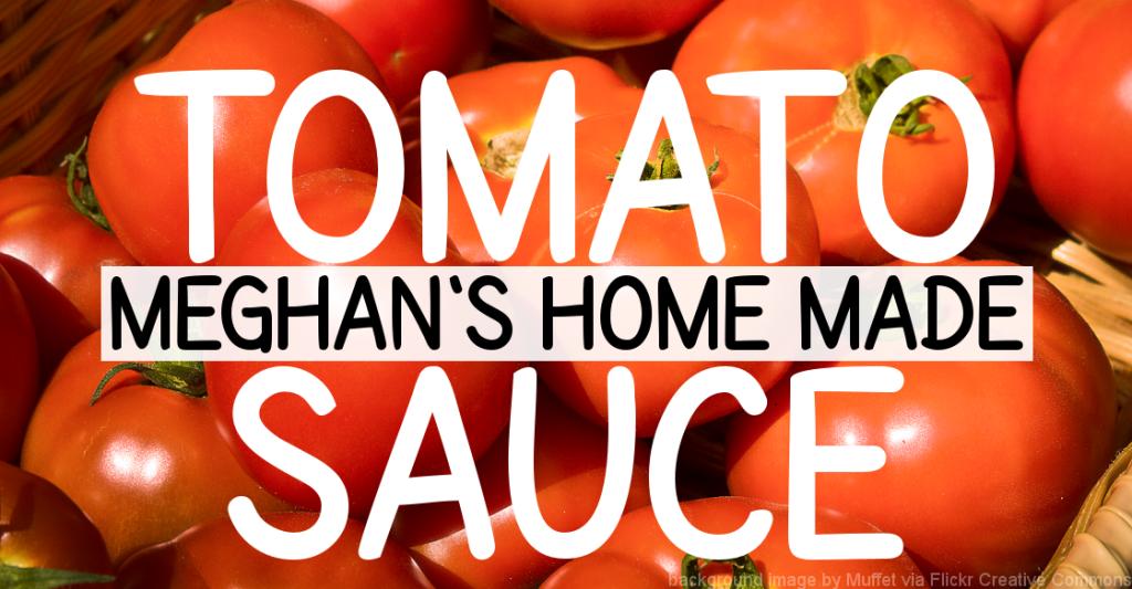 Meghan's Home Made Tomato Pasta Sauce Recipe Joy Makin' Mamas