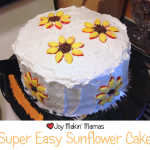 Super Easy Sunflower Cake