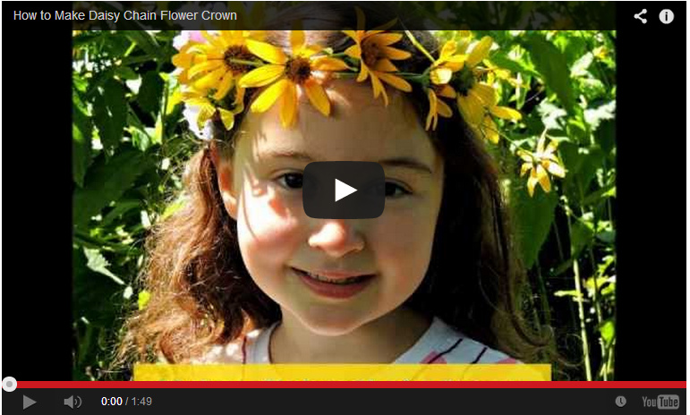 How to make a daisy chain: outdoor play ideas
