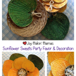 Giant sunflower party decorations and favors
