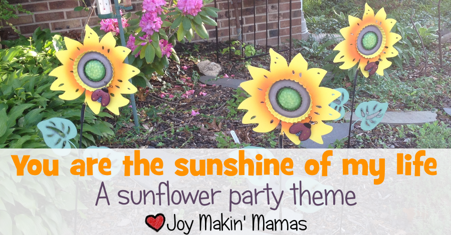sunshine of my life sunflower party theme banner wide