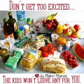 kids eat all the food