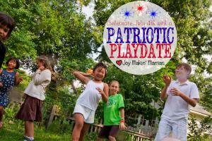 Stars and Bars patriotic July 4th Playdate