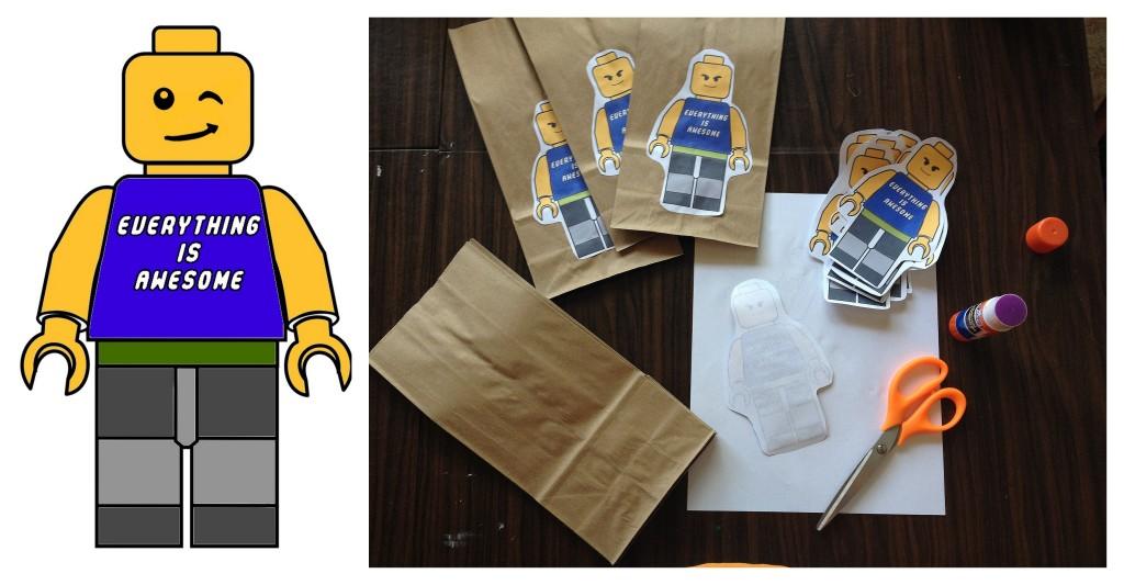 Free Printable LEGO theme favor bag DIY Joy Makin Mamas