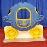 #LEGOKidsFest Sit in a Lego coach