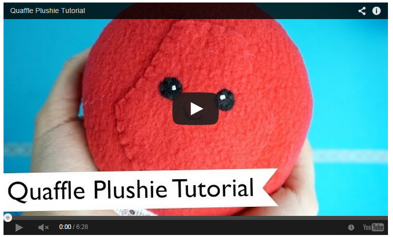 quaffle plushie tutorial on youtube