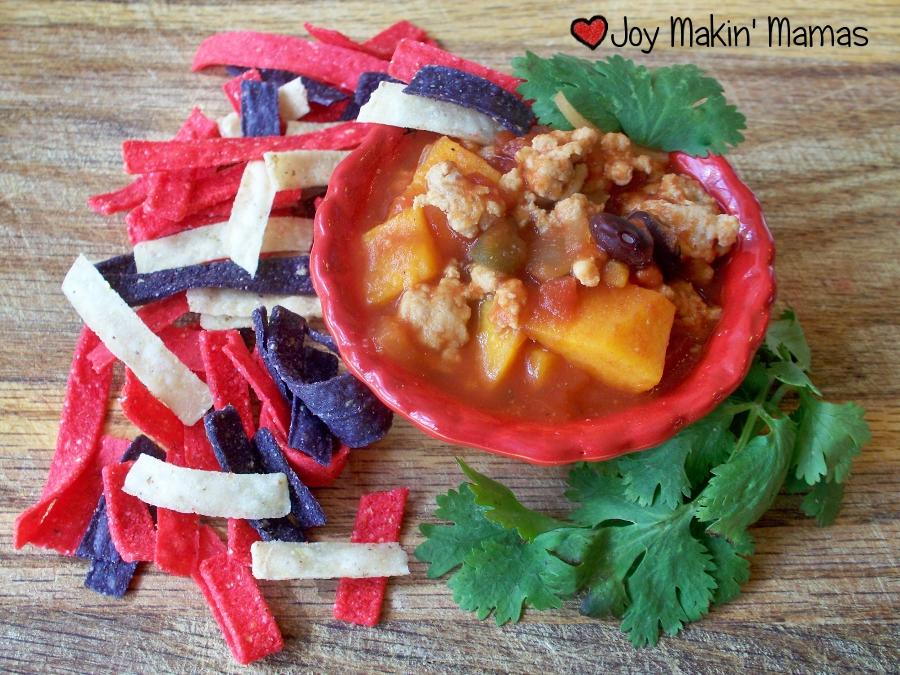 sweet potato chicken chili recipe Joy Makin Mamas