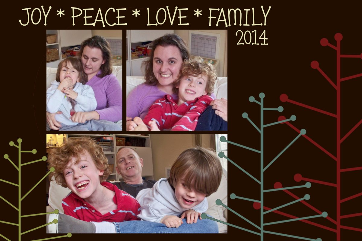 Print At Home Holiday Card made with Pumpkins and Posies Template