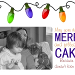 lights and cake holiday card template 2014 Joy Makin Mamas