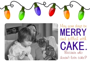 lights and cake holiday card template 2014 Joy Makin Mamas