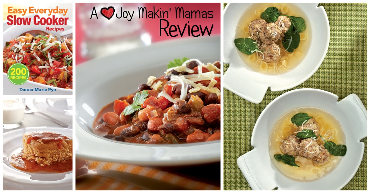 Easy Everyday Slow Cooker Recipes A Joy Makin' Mamas Review