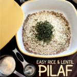 Easy Lentil and Rice Pilaf - microwave OR slow cooker recipe
