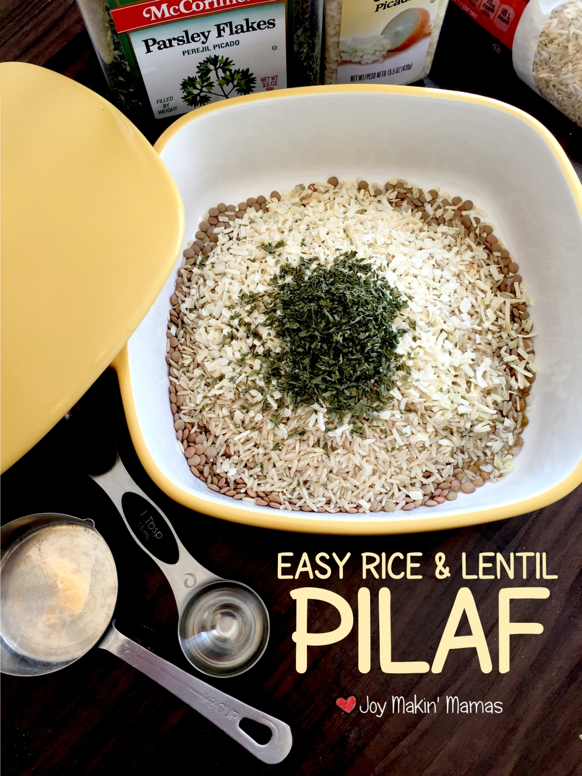 Easy rice and lentil pilaf recipe slow cooker microwave joy makin' mamas