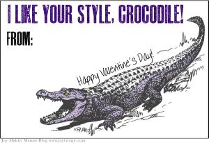 crocodile valentine