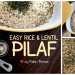 Easy Rice & Lentil Pilaf Recipe Slow cooker microwave Joy Makin' Mamas