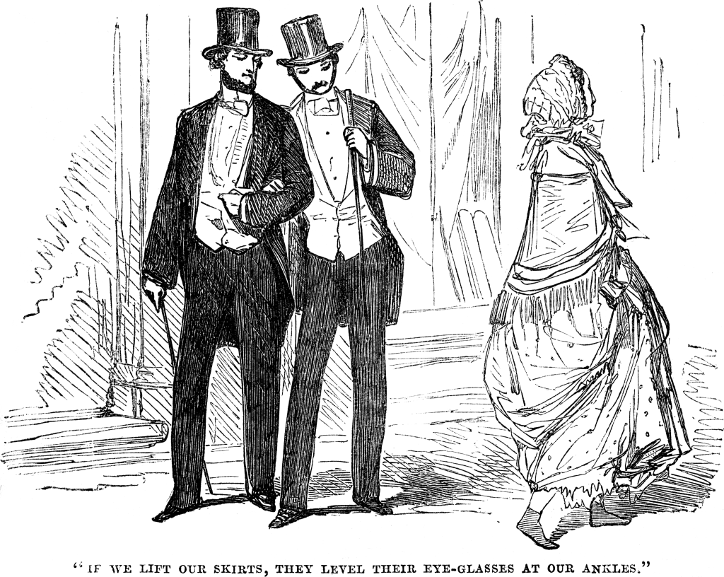 shocking ankles in Victorian Fashion Joy Makin' Mamas