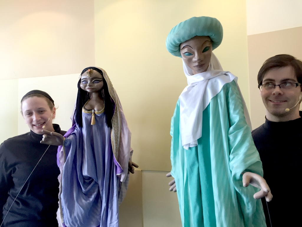 Puppets and pupetteers of Aladdin Meet & Greet The Puppet Co Glen Echo MD