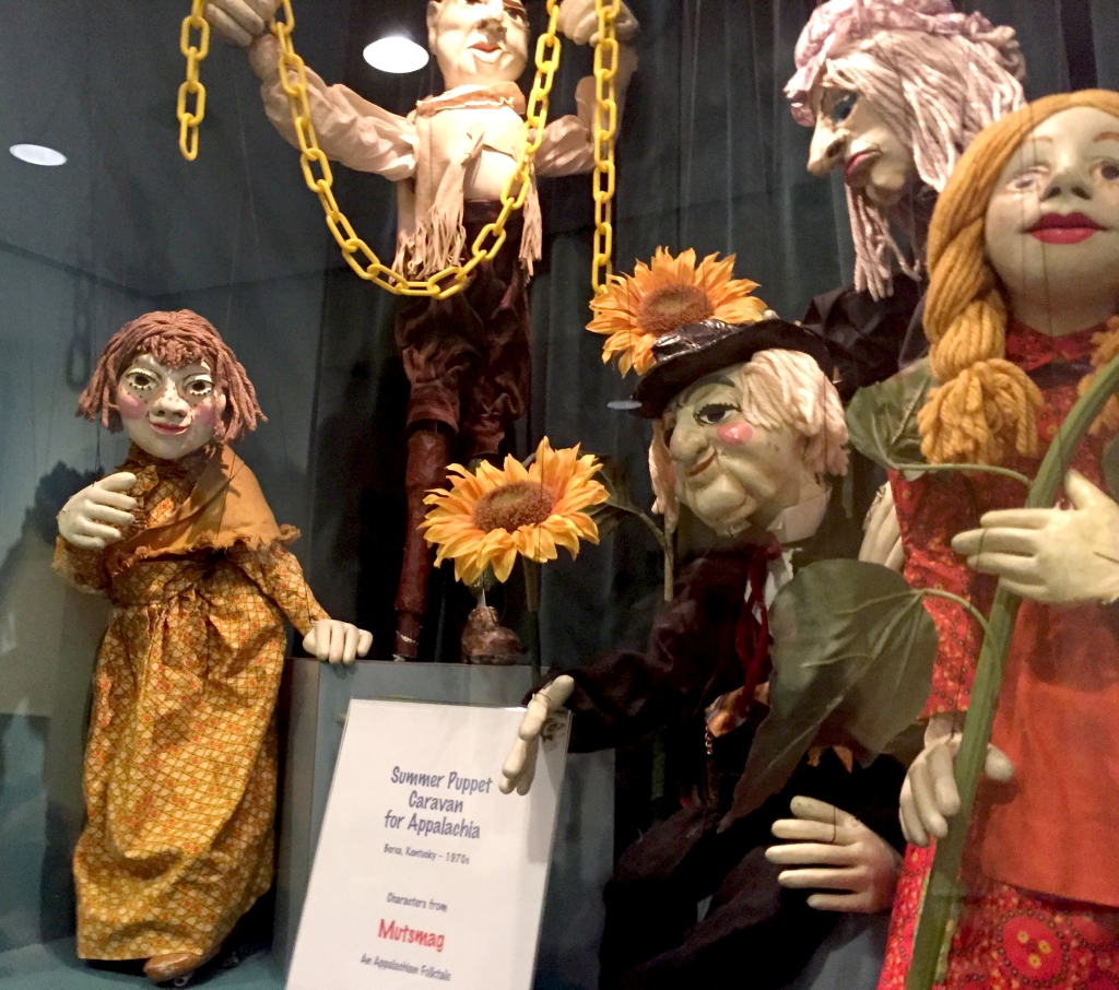The Puppet Co in Glen Echo MD Waiting in line