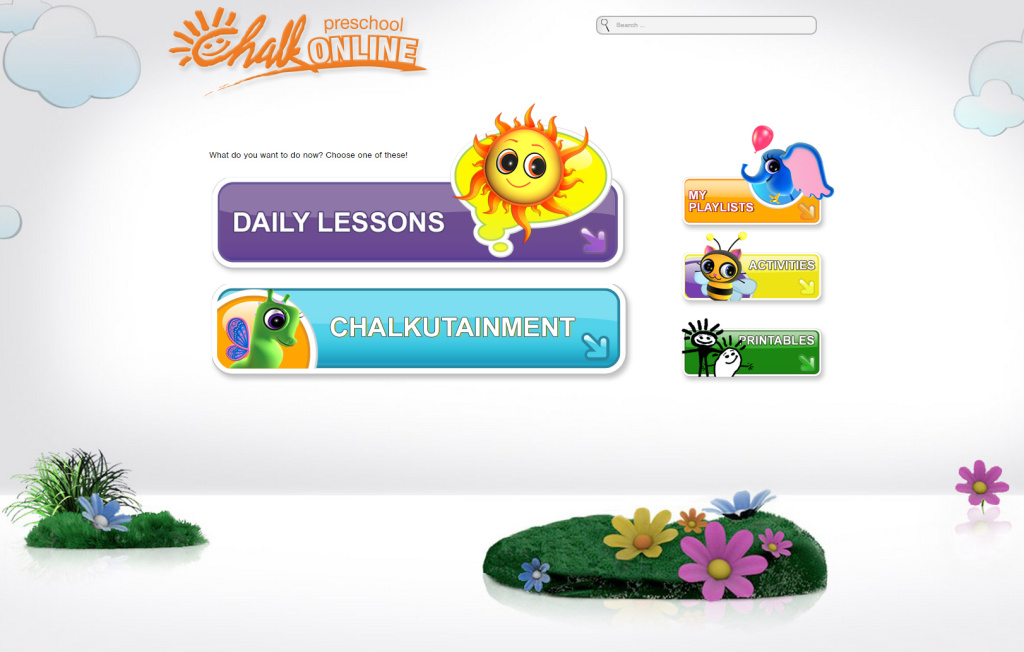 CHALK online preschool landing screen Joy Makin' Mamas Review