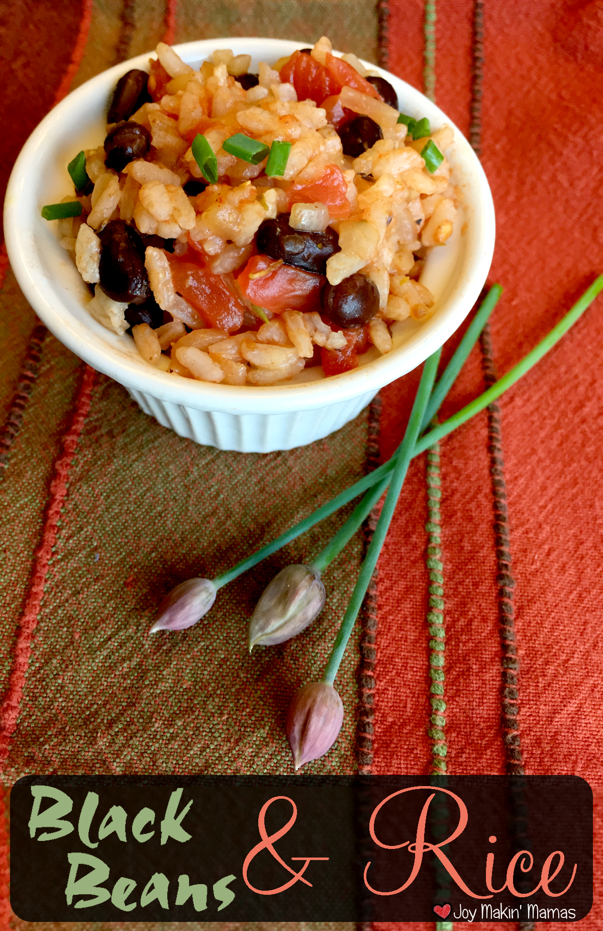 black beans and rice recipe pin Joy Makin' Mamas