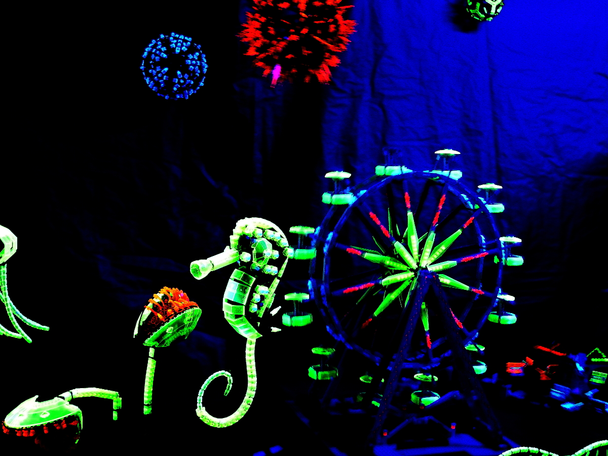 Lego Blacklight display Brick Fest Live Lego Fan Experience Richmond 2017 2-1