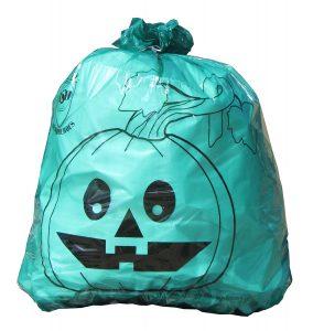 teal pumkin leaf bag
