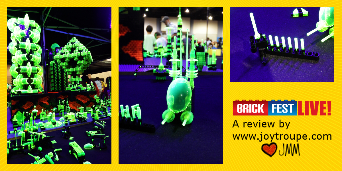 BrickFest Live Lego Fan Experience 2017 Neon City Collage