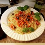 vegan pasta puttanesca recipe Joy Makin Mamas