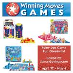 Rainy Day Game Fun Giveaway ends 5/6