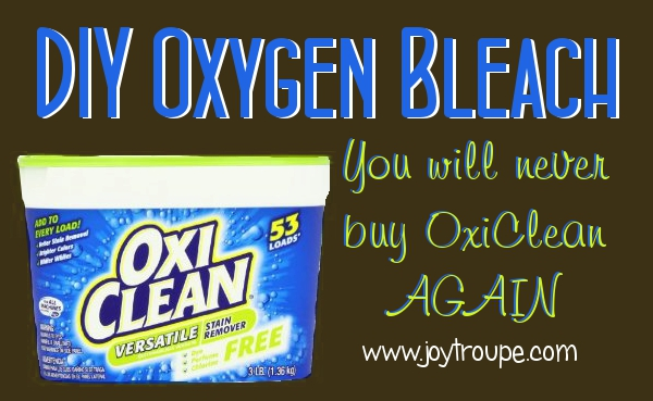 Never buy Oxi Clean again.